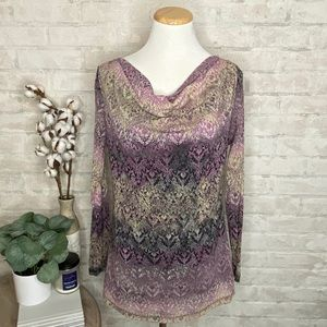 Axcess | Purple Dressy Blouse
